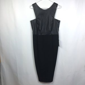 Zara Trafaluc faux leather top wiggle dress size L